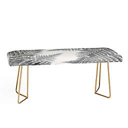 Deny Designs Emanuela Carratoni Watercolor Ferns Bench in Grey