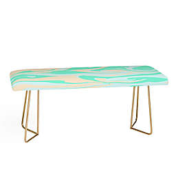 Deny Designs Wesley Bird Hypnotic Seafoam Bench in Green