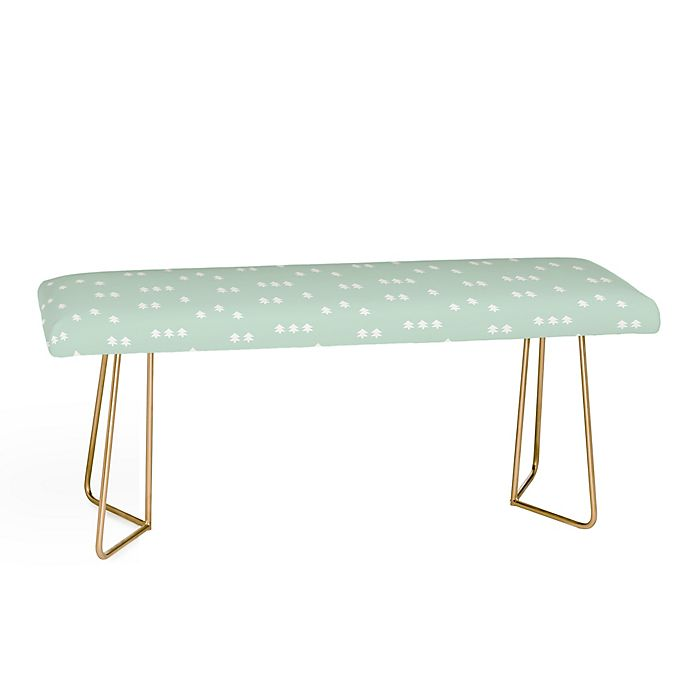Alternate image 1 for Deny Designs Little Arrow Design Co Geometric Evergreen Bench in Green