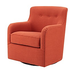 Madison Park Adele Swivel Chair in Spice
