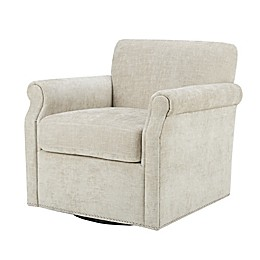Madison Park Aldrich Swivel Chair in Cream