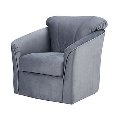 Madison Park Annette Swivel Chair in Grey