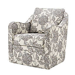 Madison Park Brianne Swivel Chair in Beige