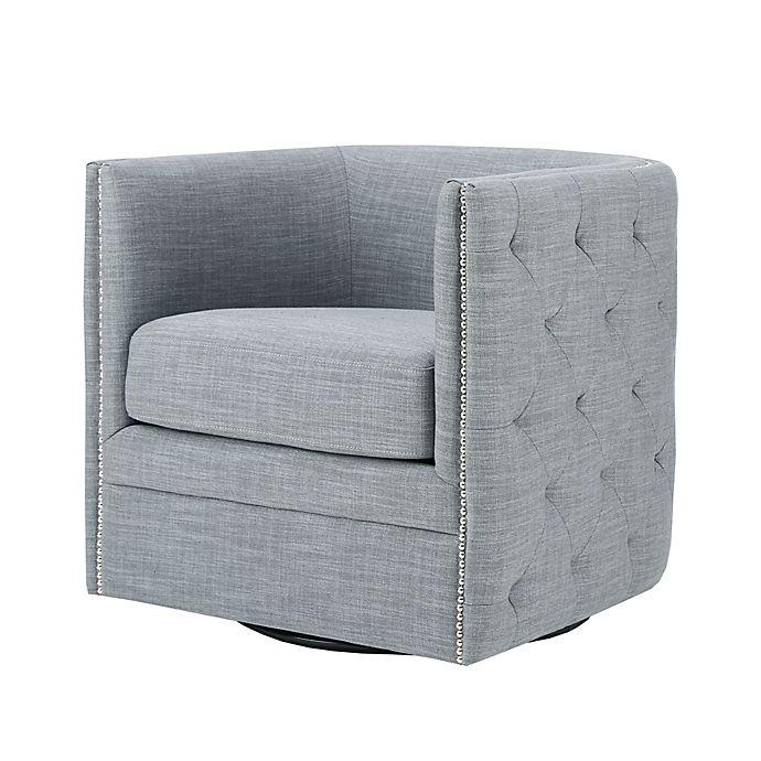 Madison Park Capstone Swivel Chair In Slate Bed Bath