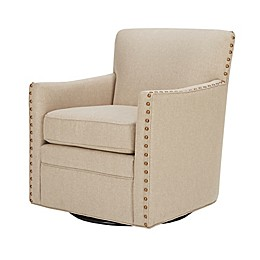 Madison Park Devrim Swivel Chair in Natural