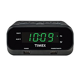 Timex® RediSet Dual Alarm Clock with Dual USB Charging Ports