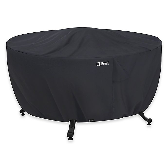 Alternate image 1 for Classic Accessories® Full Coverage Round Fire Pit Cover in Black