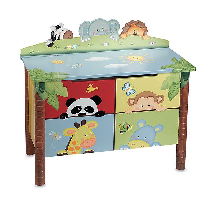 Alternate image 1 for Teamson Sunny Safari Toy Box