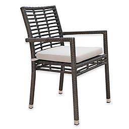 Panama Jack Graphite Outdoor Stackable Armchair in Grey