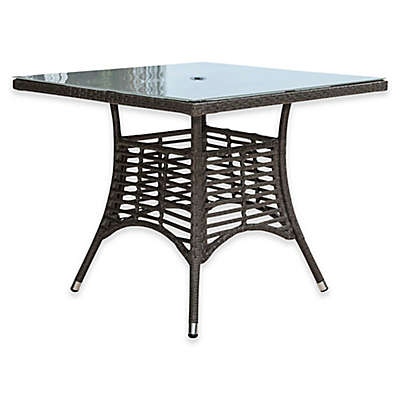 Panama Jack Graphite Outdoor Square Dining Table in Grey