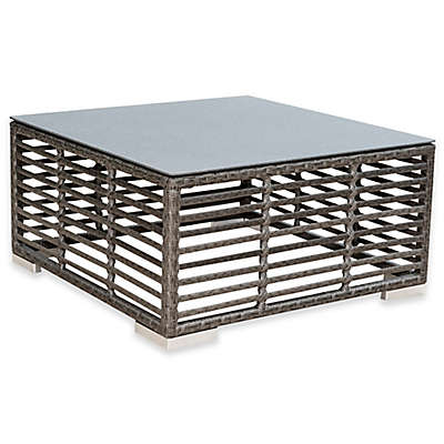 Panama Jack Graphite Outdoor Square Coffee Table in Grey