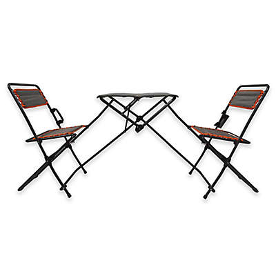 Folding Table and Bistro Chairs Tailgate Set