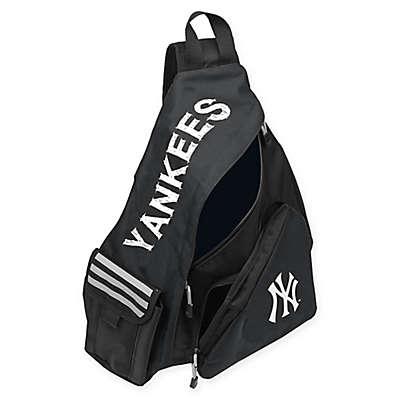 MLB New York Yankees Leadoff Sling Backpack in Navy/Black