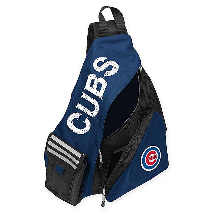 Alternate image 1 for MLB Chicago Cubs Leadoff Sling Backpack in Royal Blue/Black