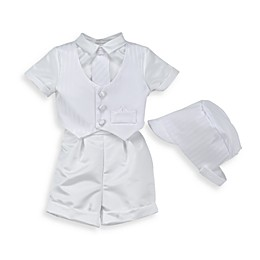Satin Christening Pant & Vest Set by Lauren Madison