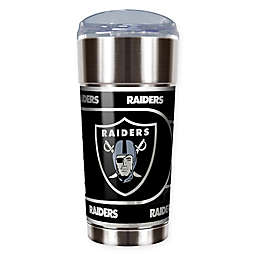 NFL Las Vegas Raiders 24 oz. Vacuum Insulated Stainless Steel EAGLE Tumbler with Lid