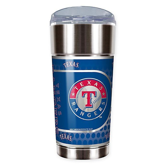 Alternate image 1 for MLB Texas Rangers 24 oz. Vacuum Insulated Stainless Steel EAGLE Party Cup