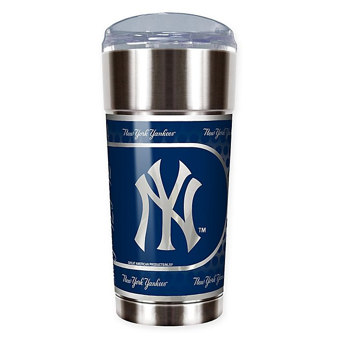 Great American Products New York Yankees 16oz Stainless Steel Travel Tumbler//Mug