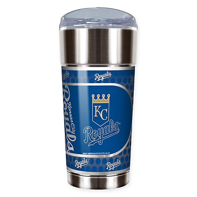 Alternate image 1 for MLB Kansas City Royals 24 oz. Vacuum Insulated Stainless Steel EAGLE Party Cup