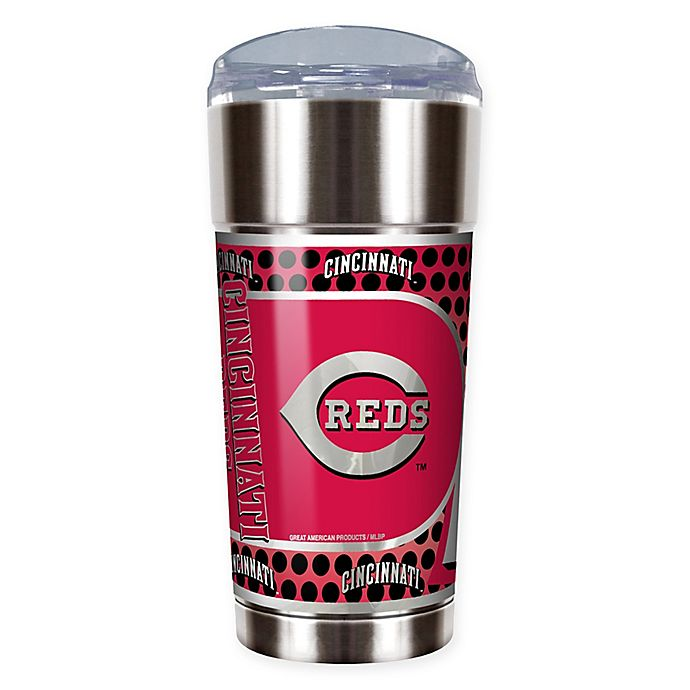 Alternate image 1 for MLB Cincinnati Reds 24 oz. Vacuum Insulated Stainless Steel EAGLE Party Cup