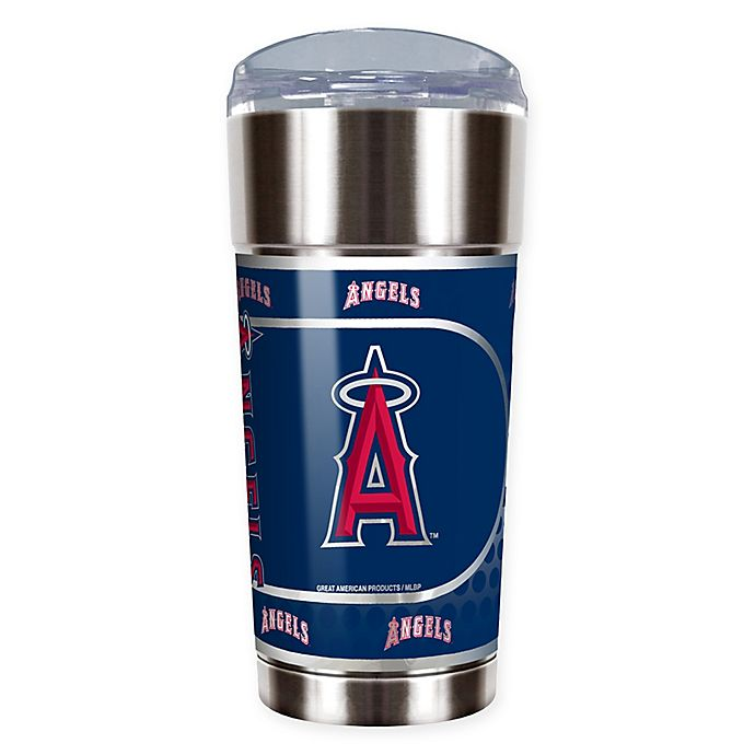 Alternate image 1 for MLB Los Angeles Angels 24 oz. Vacuum Insulated Stainless Steel EAGLE Party Cup