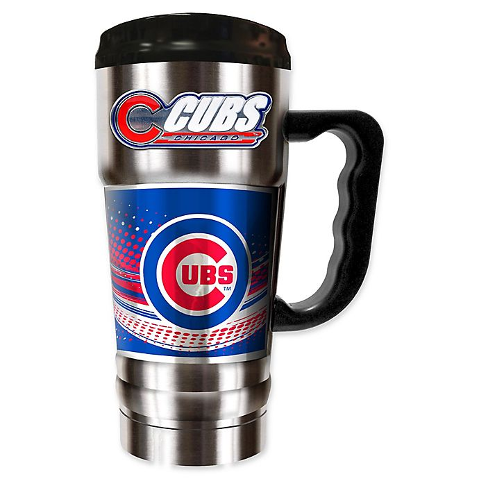 Mlb Chicago Cubs 20 Oz Vacuum Insulated Travel Mug Bed