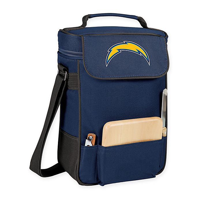 f22ded12f05 Los Angeles Chargers Picnic Time® Duet Insulated 2-Bottle Wine and Cheese  Tote in Navy Blue