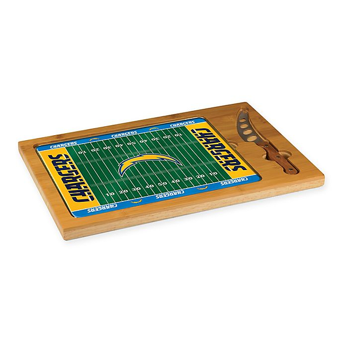 Alternate image 1 for NFL  NFL  Los Angeles Chargers Icon Cutting Board and Knife