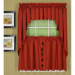 Today's Curtain Orleans Scallop Window Curtain Tiers and Valance