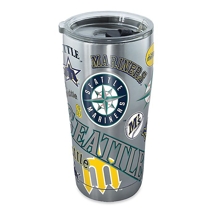 Alternate image 1 for Tervis® MLB Seattle Mariners All Over 20 oz. Stainless Steel Tumbler with Lid