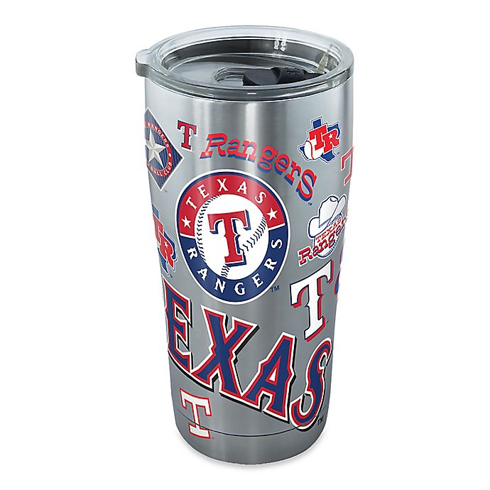 Alternate image 1 for Tervis® MLB Texas Rangers All Over 20 oz. Stainless Steel Tumbler with Lid