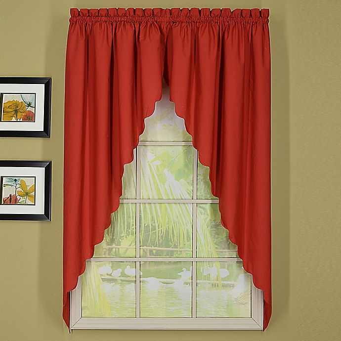Alternate image 1 for Today's Curtain Orleans 63-Inch Rod Pocket Scallop Swag Window Valance Pair