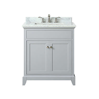 Azzuri Aurora 31-Inch Single Vanity in Light Grey/White