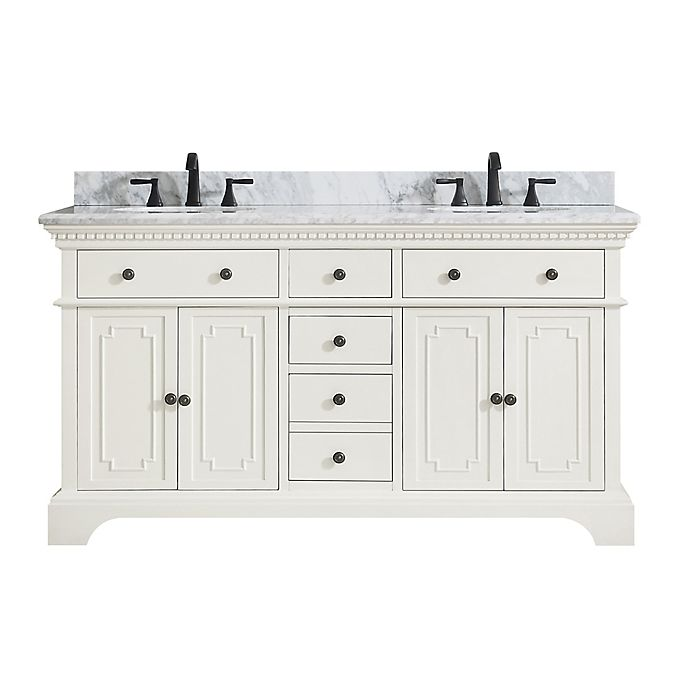 Alternate image 1 for Azzuri Hastings 61-Inch Double Vanity in Grey/White