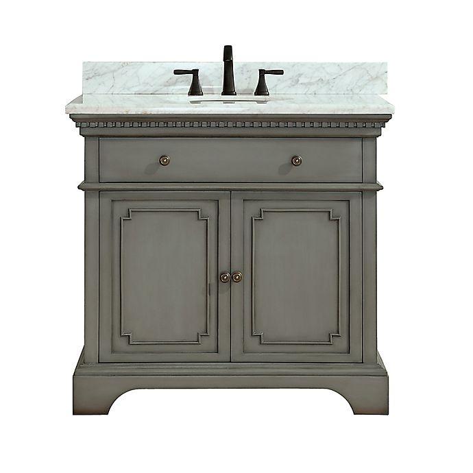 Alternate image 1 for Azzuri Hastings 37-Inch Single Vanity in Grey/White