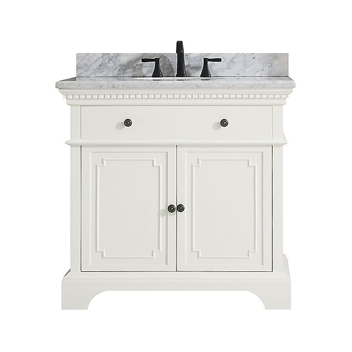 Alternate image 1 for Azzuri Hastings 37-Inch Single Vanity in White/White