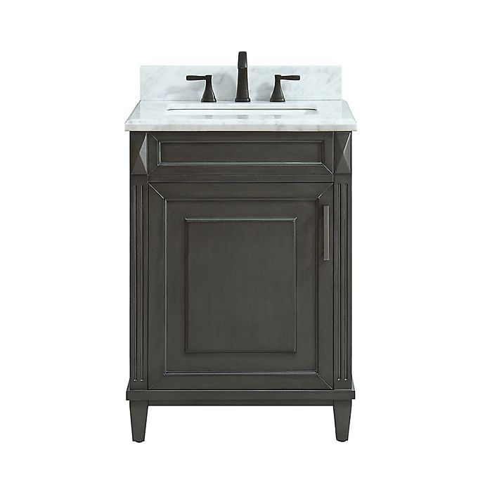 Alternate image 1 for Azzuri Sterling 25-Inch Single Vanity in Charcoal/White