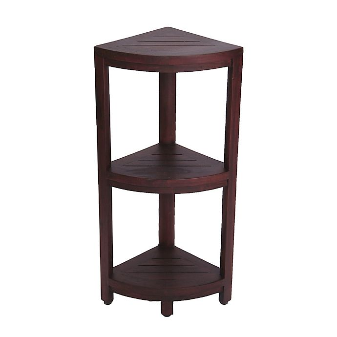 Oasis Solid Teak 3 Tier Corner Shower Shelf Bed Bath Beyond
