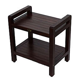 Classic™ Solid Teak Stool with Aide™ Arms and Shelf Collection