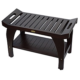 Tranquility® 30-Inch Teak Shower Bench with Shelf