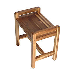 EcoDecors® EarthyTeak™ Classic 22-Inch Teak Bench with Arms