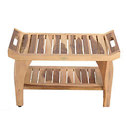 EcoDecors® EarthyTeak™ Tranquility 30-Inch Bench with Shelf