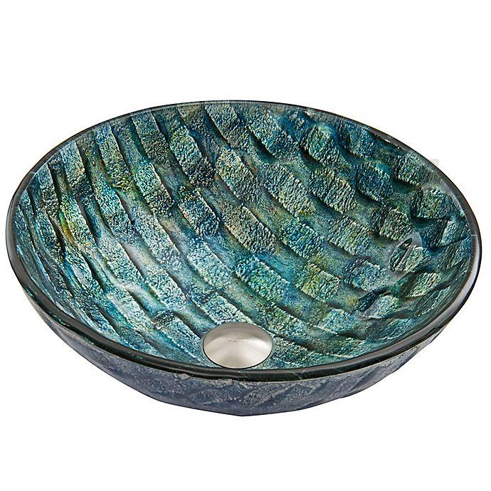 Vigo Vg07049 Oceania Glass Vessel Sink In Bluegreen Bed Bath Beyond