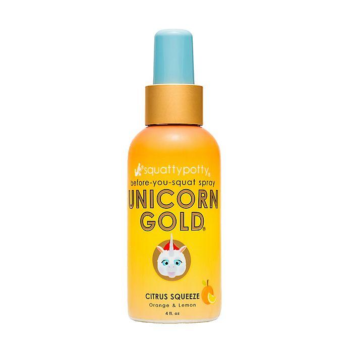 Squatty Potty 174 Unicorn Gold 174 4 Oz Toilet Spray In Citrus