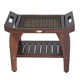 Tranquility® 24-Inch Solid Teak Bench with Shelf and LiftAide™ Arms