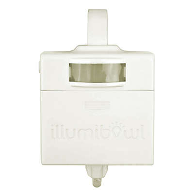 IllumiBowl™ Never Fall Germ Defense Activated Toilet Night Light™ in White