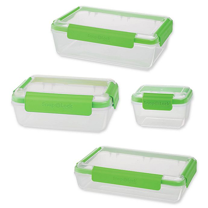 Alternate image 1 for Progressive™ SnapLock Rectangular Food Storage Containers