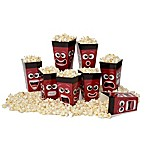Wabash Valley Farms 8-Pack Disposable Movie Night Faces Popcorn Tubs