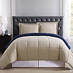 Truly Soft Everyday Reversible Full/Queen Comforter Set in Khaki/Navy