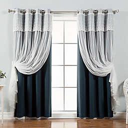 Decorinnovation Mix & Match Dimanche Blackout Window Curtain Panel Pair